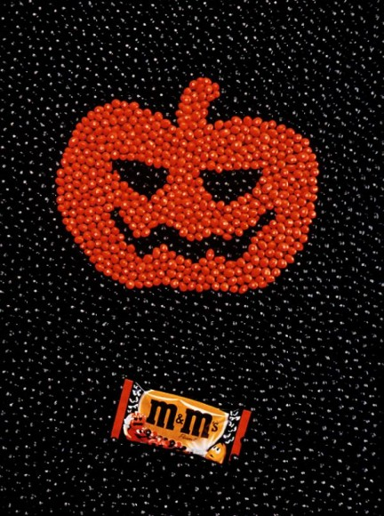 M&M Halloween poster