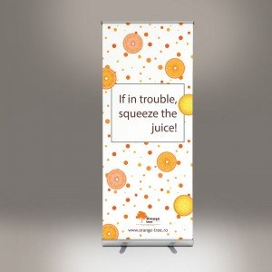 Banner tip roll-up